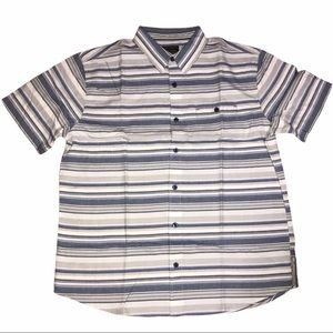 Grizzly Mountain Blue Striped Short Sleeve Shirt